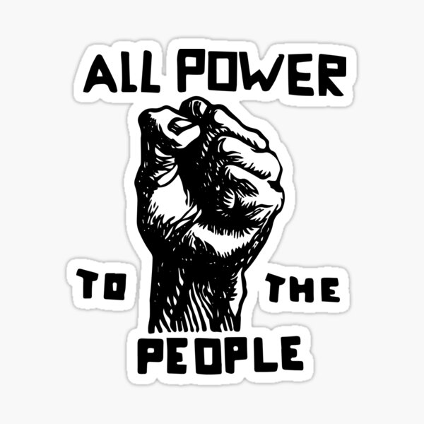 All Power To the People | African American | Black History Sticker