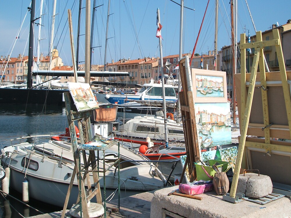 St Tropez boats and pictures by HelenK