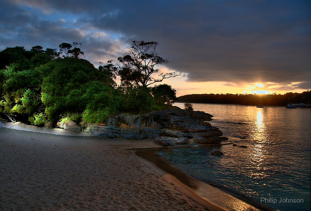 Balmoral  Glow - Balmoral Beach - The HDR Series by Philip Johnson