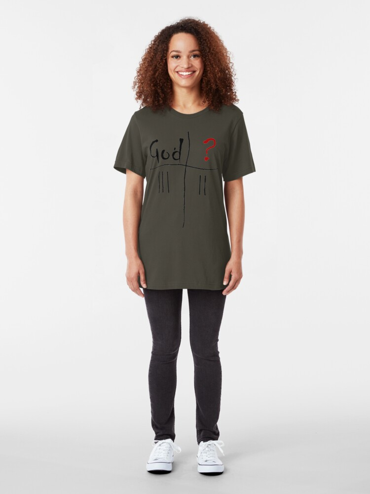 Alternate view of God vs. The Unknown. Slim Fit T-Shirt