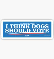 Dogs political campaign  Sticker