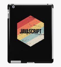 Retro JavaScript Programming Language Icon iPad Case/Skin