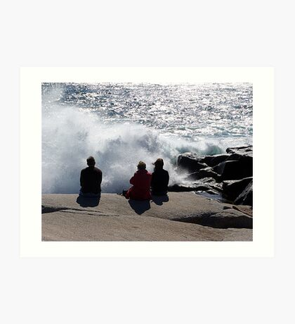 Three with the Ocean Art Print