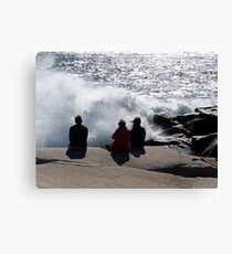 Three with the Ocean Canvas Print