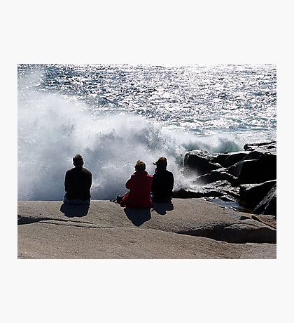 Three with the Ocean Photographic Print
