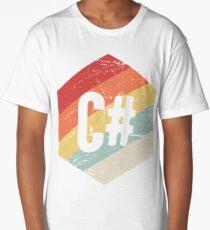 Retro C# Programming Language Icon Long T-Shirt