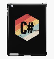 Retro C# Programming Language Icon iPad Case/Skin