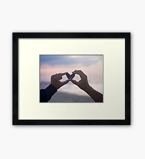 Love & Hearts Are In The Air Framed Print