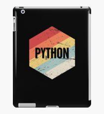 Retro Python Programming Language Icon iPad Case/Skin
