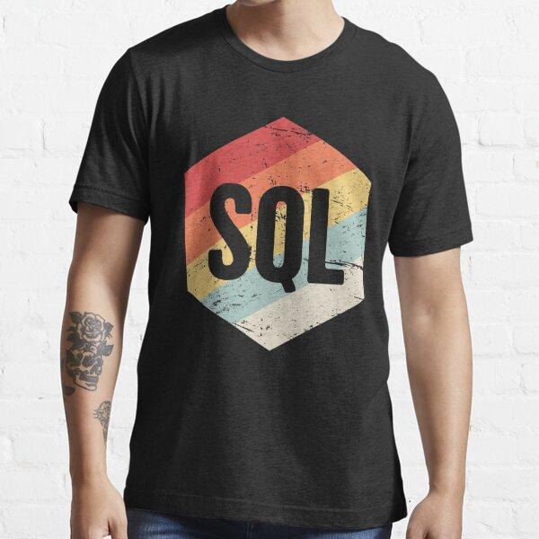 Retro SQL Programming Language Icon Essential T-Shirt