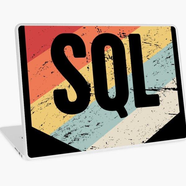 Retro SQL Programming Language Icon Laptop Skin