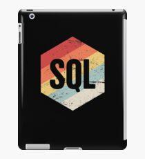 Retro SQL Programming Language Icon iPad Case/Skin