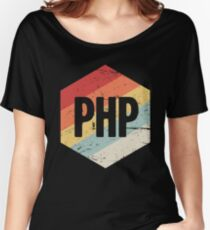 Retro PHP Programming Language Icon Women's Relaxed Fit T-Shirt