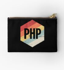 Retro PHP Programming Language Icon Studio Pouch