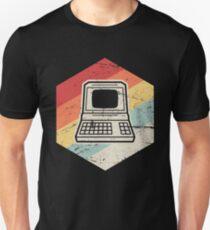 Vintage Retro Computer Icon | Computer Nerd Design Unisex T-Shirt