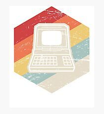 Vintage Retro Computer Icon | Computer Nerd Design Photographic Print