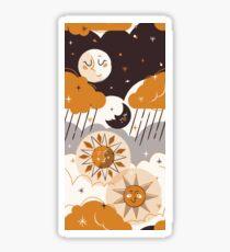 Mid Century Sun & Moon Glossy Sticker