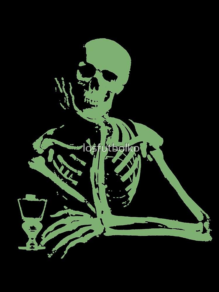 Absinthe Skeleton Shirts by losfutbolko