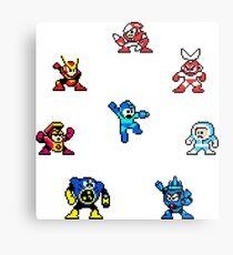 Megaman bosses Metal Print