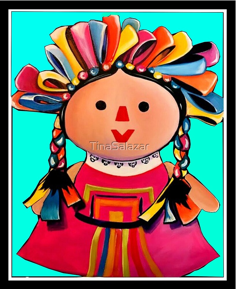 Mexican Maria Doll Turquoise by TinaSalazar