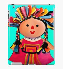 Mexican Maria Doll Turquoise iPad Case/Skin