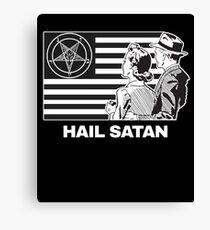 Hail Satan 666 T-Shirt Canvas Print