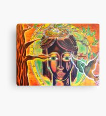 People Like Trees Walking Metal Print