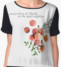 Call Me By Your Name - Inscription Chiffon Top
