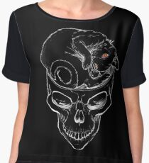 a Cat in the Brain [Lucio Fulci Tribute] Chiffon Top
