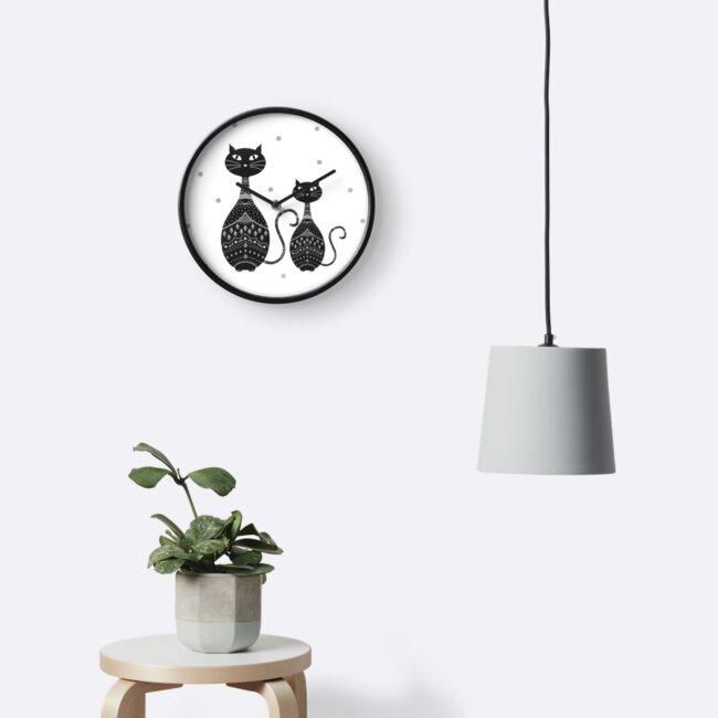 Black Cat Illustration by Cristina Bianco Design