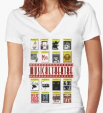 Musical Theatre! Women's Fitted V-Neck T-Shirt