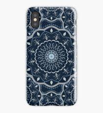 Black White Blue Mandala iPhone Case/Skin