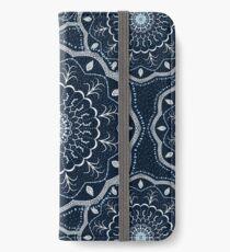 Black White Blue Mandala iPhone Wallet/Case/Skin
