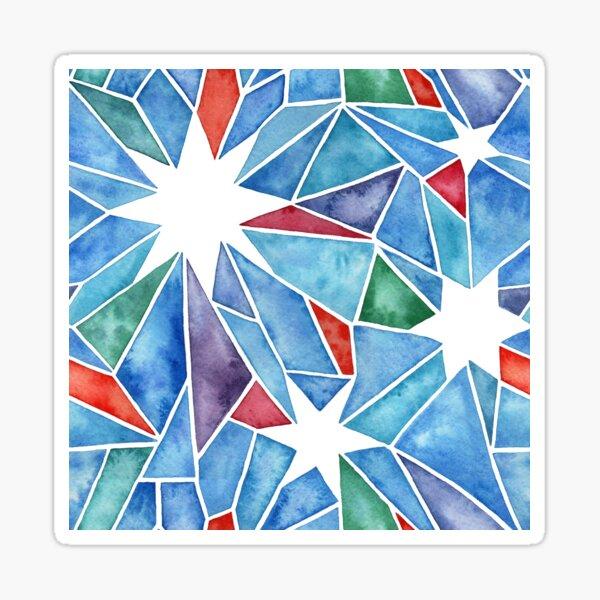 Watercolor Star Geometric in Multi Colors Sticker