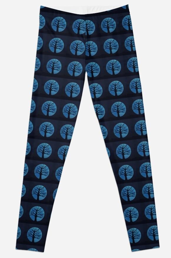 'Spooky Tree  (Blue)' Leggings