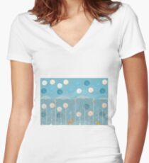 Winter Tales Women's Fitted V-Neck T-Shirt