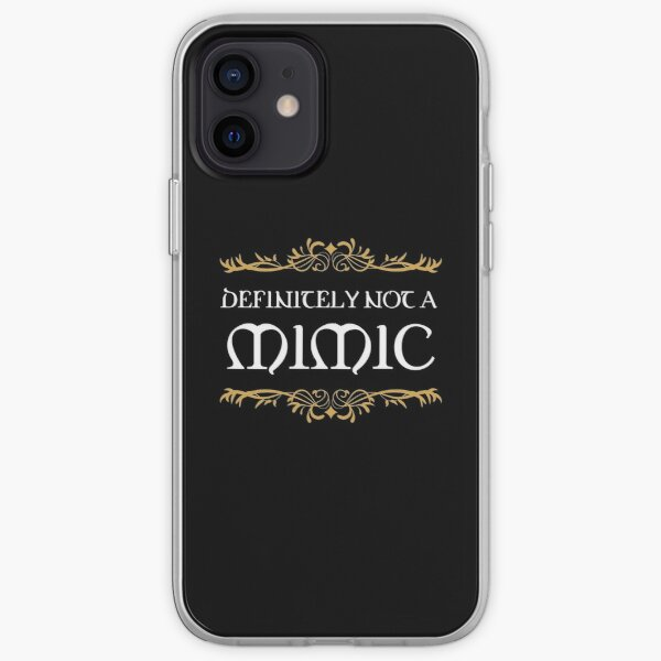 Definitely not a Mimic Tabletop RPG Addict iPhone Soft Case