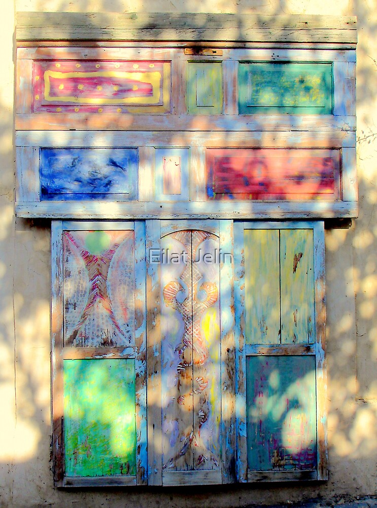 Door in colored shadow by Eilat Jelin