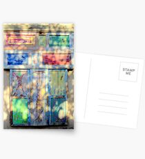 Door in colored shadow Postcards