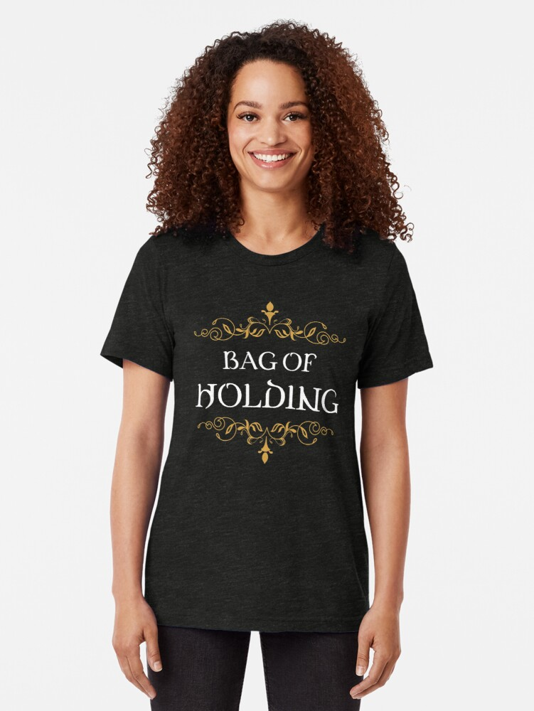 Alternate view of Bag of Holding Tabletop RPG Addict Tri-blend T-Shirt
