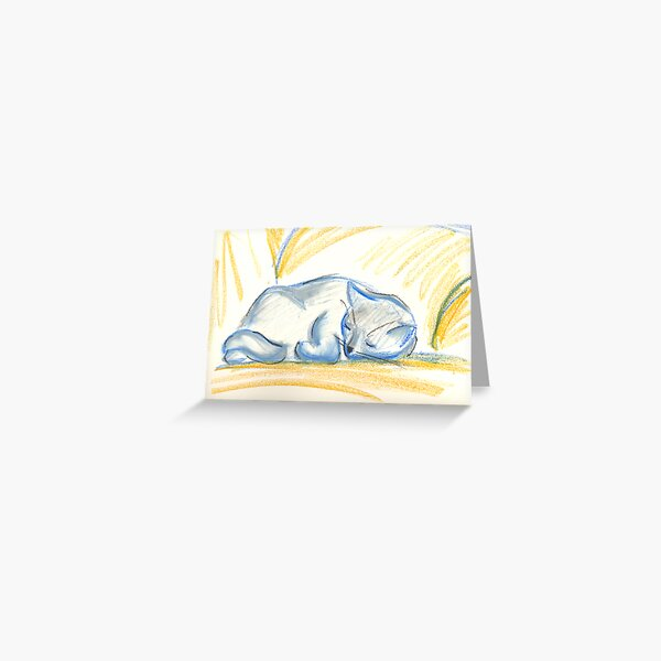 chile in blue Greeting Card