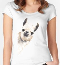 Sneaky Llama Women's Fitted Scoop T-Shirt