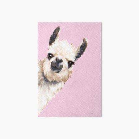 Sneaky Llama Art Board Print