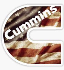 American Flag Cummins Logo Sticker