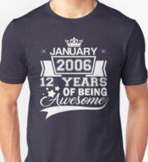 12. Geburtstagsgeschenk Geboren im Januar 2006 Slim Fit T-Shirt