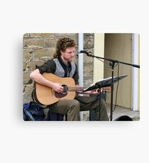 Entertaining The People Of Bridport Canvas Print