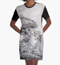 Mushroom Queen Graphic T-Shirt Dress