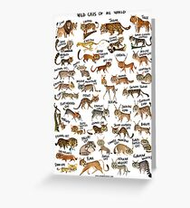 Wild Cats of the World Greeting Card