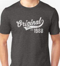 Original Est 1988 -29th Birthday Gift Unisex T-Shirt