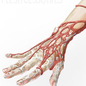 Fleshcessories: Caul Fat and Veining GLove by tokimonster